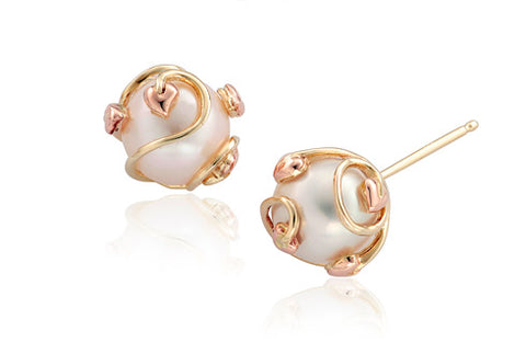 Clogau - Tree Of Life Caged Pearl Stud Earrings TOLCPE xxx