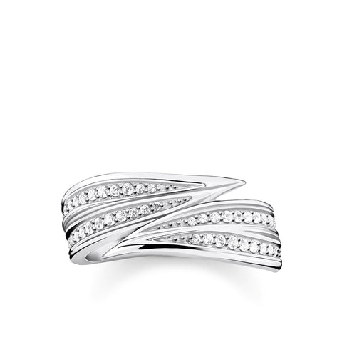 Thomas Sabo Silver Leaves Ring TR2283-051-14
