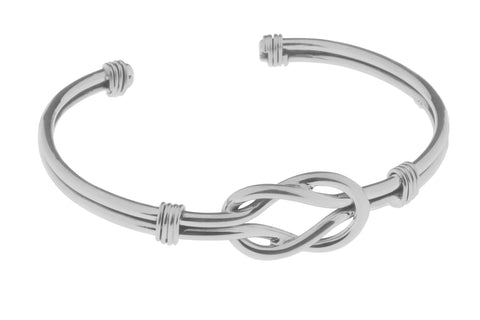 Tianguis Jackson Sterling Silver Double Band Knot Torque Bangle BT2127 0401211