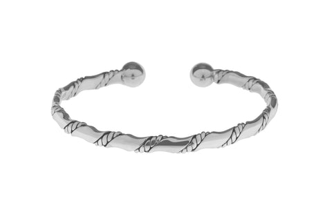 Tianguis Jackson Sterling Silver Twist Torque Bangle BT2179 0401242