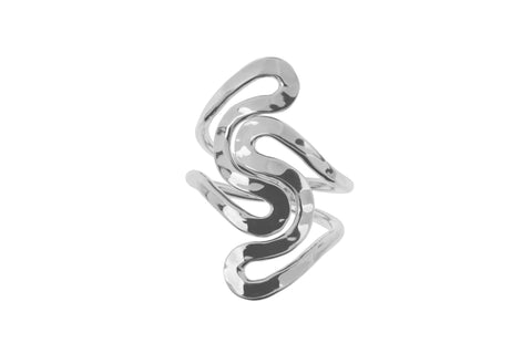 Tianguis Jackson Sterling Silver Wave Ring R0919 0408053
