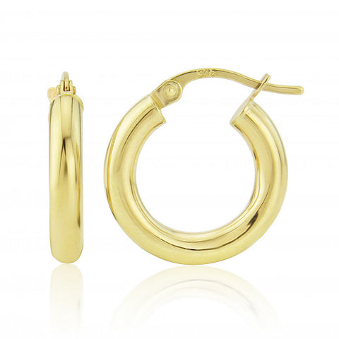 9ct Gold Extra Small Hoop Earrings 8H64Q