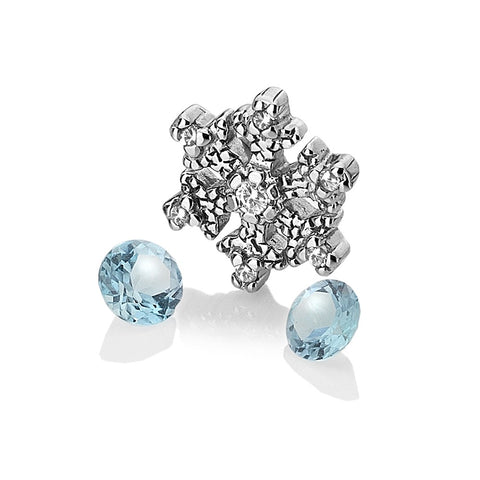 Hot Diamonds Anais Snowflake with Blue Topaz Charms AC108 2007247