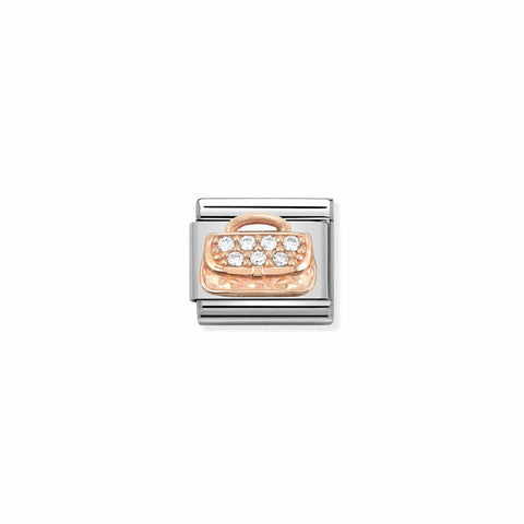 Nomination 9ct Rose Gold CZ Handbag Charm 430302 31
