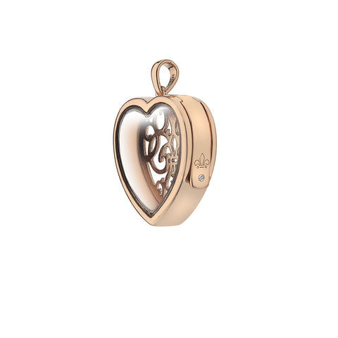 Hot Diamonds Anais Rose Gold Medium Filigree Heart Locket AL013 2004396