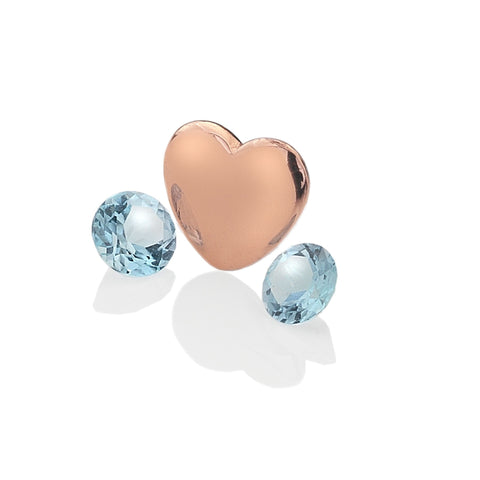 Hot Diamonds Anais Rose Gold December Birthstone Blue Topaz Charms EX143 AC044 2007196