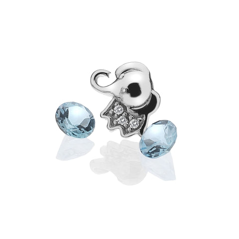 Hot Diamonds Anais Elephant with Blue Topaz Charms EX098 AC005 2007157