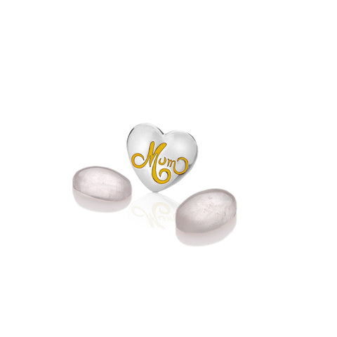 Hot Diamonds Anais Mum Heart with Rose Quartz Charms EX214 AC063 2007215