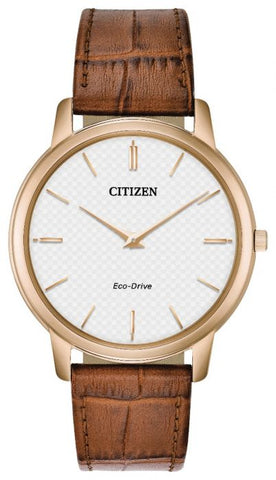 Citizen Stiletto Eco-Drive Mens Brown Strap Watch AR1133-15A 1003317