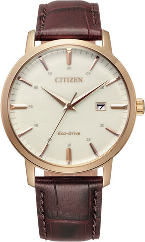 Citizen Eco Drive Mens Brown Leather Watch BM7463-12A 1003366