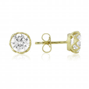 9ct Gold CZ Stud Earrings D100009CZ 0303298