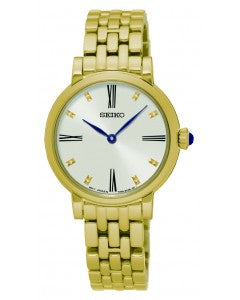 Seiko Ladies Gold Bracelet Watch SFQ814P1 1004092