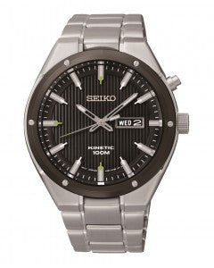 Seiko Kinetic Stainless Steel Bracelet Mens Watch SMY151P1