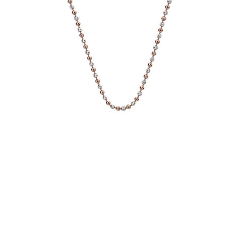 "Hot Diamonds Emozioni 18"" Rose Gold & Sterling Silver Accent Bead Chain CH019 2050072"