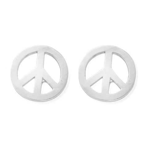 ChloBo - Peace Symbol Sterling Silver Stud Earrings SEST150 2203001