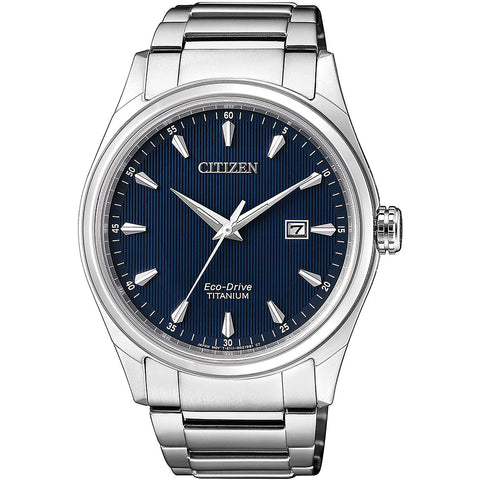 Citizen Eco-Drive Mens Titanium Bracelet Watch BM7360-82L