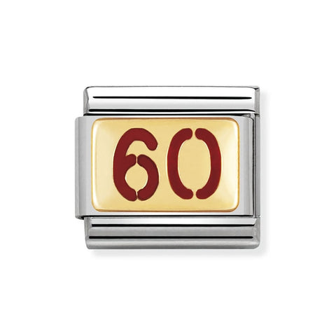 Nomination 18ct Gold & Enamel 60th Birthday Charm 030230 48 Sale