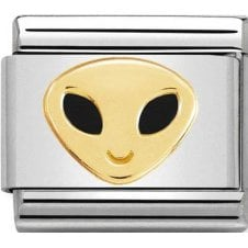 Nomination 18ct Gold & Enamel Alien Charm 030272 49