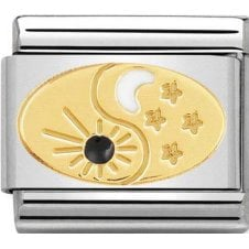 Nomination 18ct Gold Tao Sun and Moon Charm 030272 51