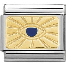 Nomination 18ct Gold with Blue Enamel Eye Charm 030284 42