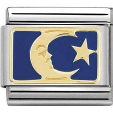 Nomination 18ct Gold & Enamel Blue Moon Charm 030284 45