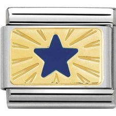 Nomination 18ct Gold with Blue Enamel Star Charm 030284 41