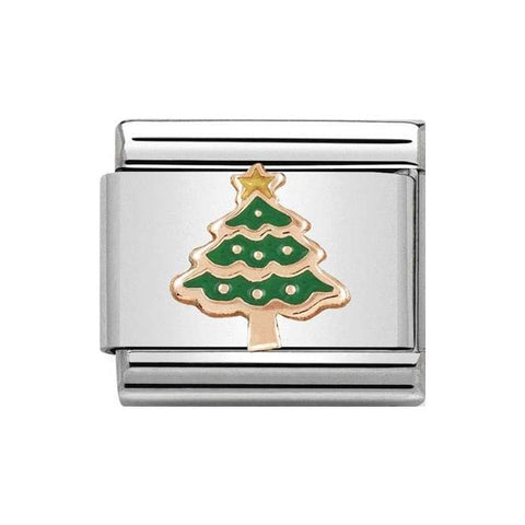 Nomination 9ct Rose Gold Christmas Tree Charm 430203 05