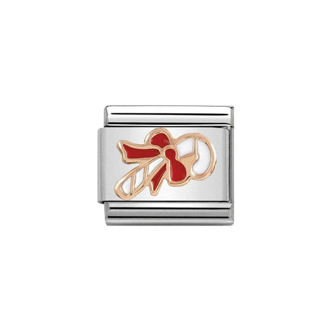 Nomination Christmas 9ct Rose Gold Candy Cane Charm 430203 04