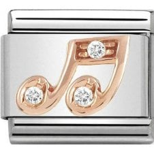 Nomination 9ct Rose Gold Music Note Charm 430305 25