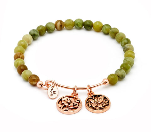 Chrysalis - Nature Moss Jade Bangle 4214031