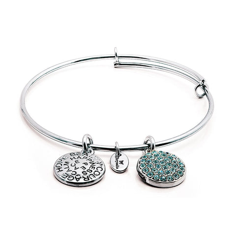 Chrysalis - March Aquamarine Crystal Expandable Bangle 4214007 X