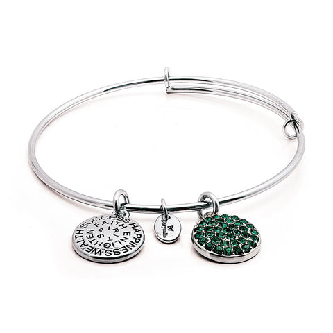 Chrysalis - May Emerald Crystal Expandable Bangle 4214081
