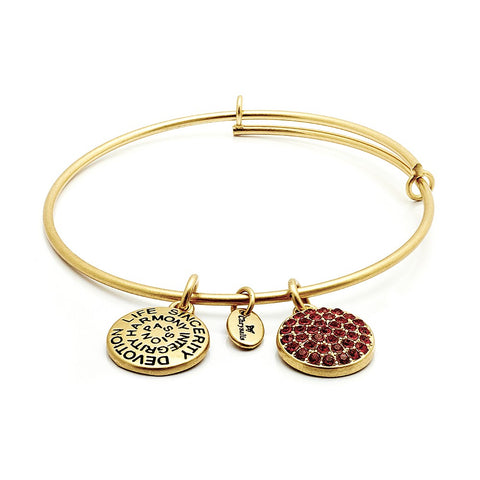 Chrysalis - July Ruby Crystal Gold Plated Expandable Bangle 4214084