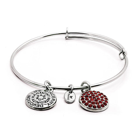 Chrysalis - July Ruby Crystal Expandable Bangle 4214085
