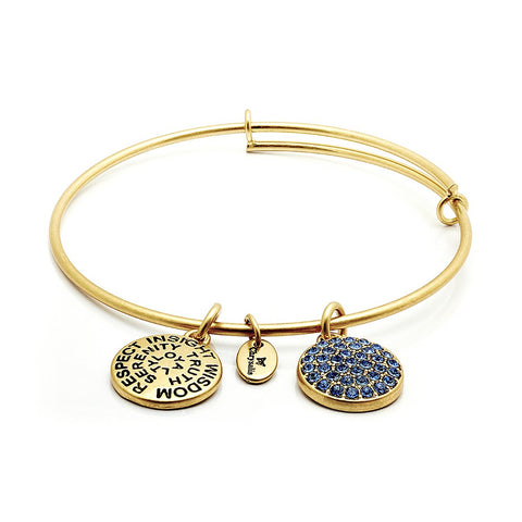 Chrysalis - September Sapphire Crystal Gold Plated Expandable Bangle 4214088