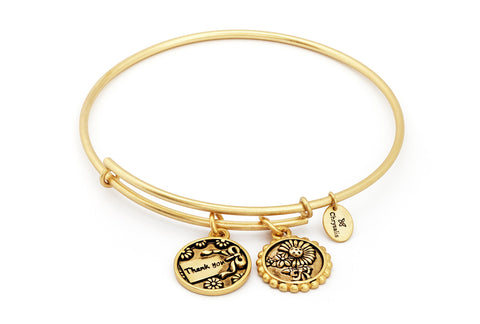 Chrysalis - Thank You Expandable Gold Plated Bangle 4214280