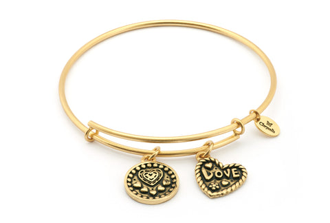 Chrysalis - Love Expandable Gold Plated Bangle 4214286