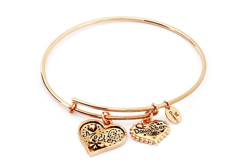 Chrysalis - Mother & Daughter Expandable Gold Plated Bangle 4214295 X