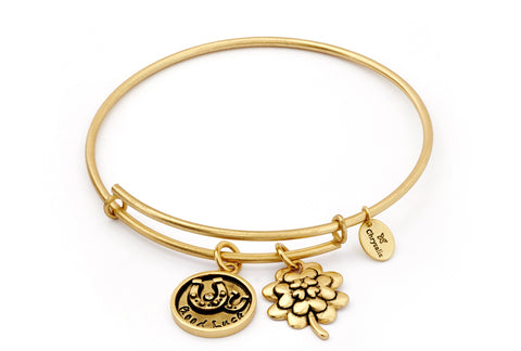Chrysalis - Good Luck Gold Plated Expandable Bangle X
