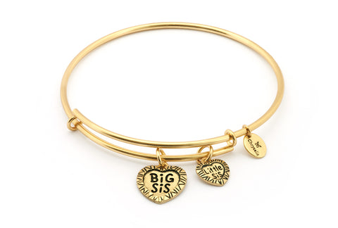 Chrysalis - Big Sis Little Sis Gold Plated Expandable Bangle X