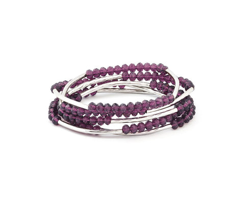 Chrysalis - Nomad Purple Individuality Elasticated Wrap Bracelet
