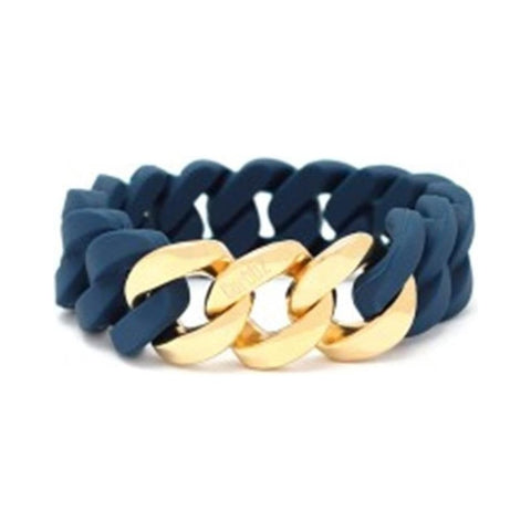 Curbbz Blue Silicone & Gold Stainless Steel Bracelet 0353059