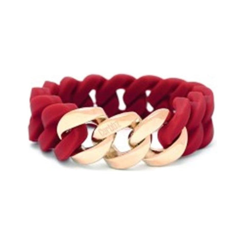 Curbbz Maroon Silicone & Rose Gold Stainless Steel Bracelet 0353059