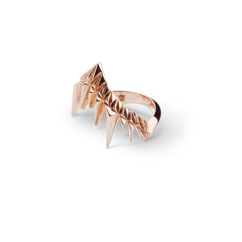 Kasun London Rose Gold Shark Bay Ring Size M R1056RG 4401003 Sale