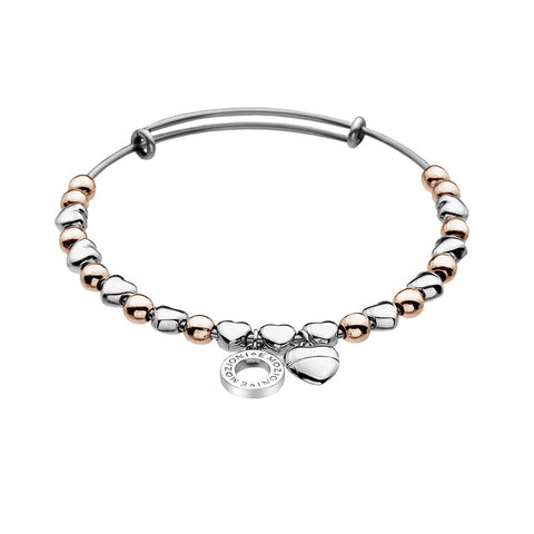 Hot Diamonds Emozioni Rose Gold Heart Bangle EB003 2005206