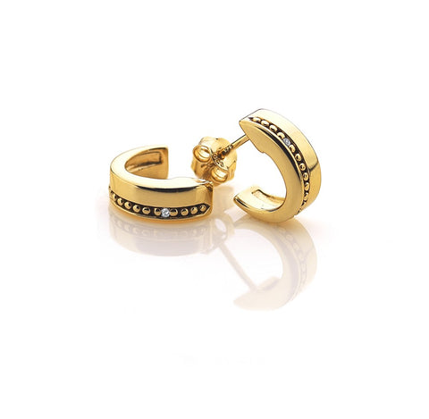 Hot Diamonds Gold Trio Hoop Stud Earrings DE399 2003086