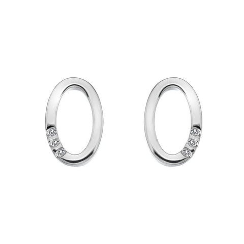 Hot Diamonds Halo Oval Stud Earrings DE418 2003089