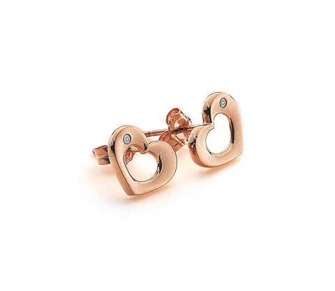 Hot Diamonds Rose Gold Emerge Open Heart Stud Earrings DE435 2003201