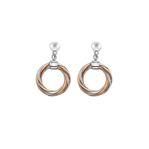 Hot Diamonds Rose Gold Breeze Circle Stud Earrings DE474 2003209