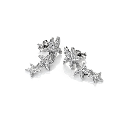 Hot Diamonds Daisy Eternal Love Sterling Silver Drop Earrings DE601
